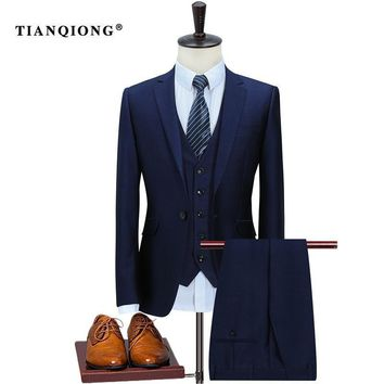 TIAN QIONG Men's Business Wool Suit