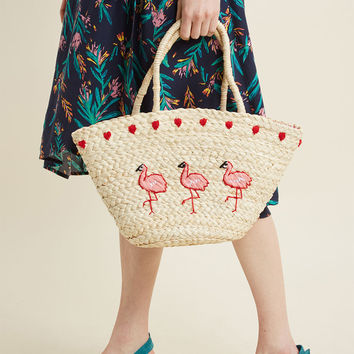 Collectif Comes and Flamingos Tote