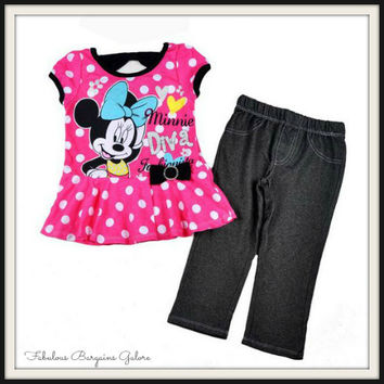 Minnie Mouse Diva 2pc Set