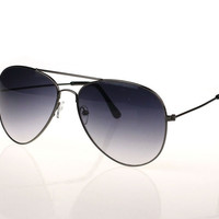 Men and women Classic Aviator Metal Designer Sunglasses Gray = 5660740161