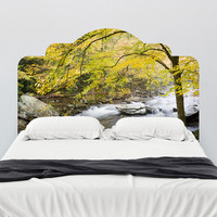Paul Moore's Smokey Mountain River Headboard wall decal