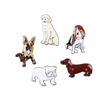 ac spbest Shuangshuo 2017 New Fashion Animal Pet Brooch Pins Metal Enamel Pin Brooches for Women Cartoon Series Metal Brooch Pins