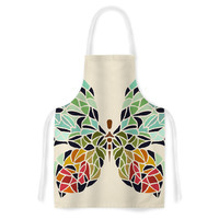 """Art Love Passion """"Butterfly"""" Brown Multicolor Artistic Apron"""
