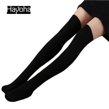 DCCKU62 2017 Spring and Autumn Over Knee leggings  Fashion Women's High Cotton Sexy 7Color Leggings High Quality
