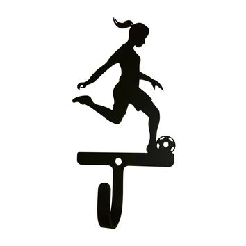 Wrought Iron Female Soccer Decorative Wall Hook Small