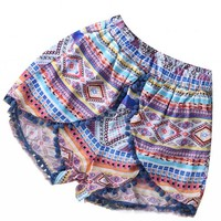 Women's Summer Fashion Casual Beach Dress Shorts High Waist Short Pants