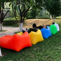 Hangout Bean bag chair Fast Inflatable Camping Sofa lazy Sleeping lay bag banana Air Bed Lounge bed air bag air hammock