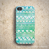 Geometric Mint Pastel iphone case, iphone 5 case, iphone 4s case, iphone 4 case, plastic iphone case, iphone 4 cover,iphone 5