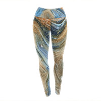 Earth Fire Rock Yoga Exercise Leggings
