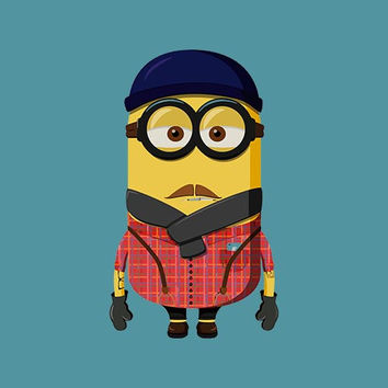 Hipster Minion Adult Tee Shirt