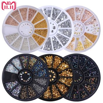 Mixed Color Stone Nail Rhinestone Small Irregular Beads Manicure 3D Nail Art Decoration In Wheel