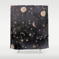 Constellations Shower Curtain by Nikkistrange