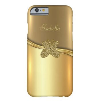 Golden Background With Butterfly iPhone 6/6s Case