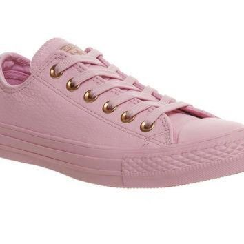 CREYUG7 Converse All Star Low Leather Trainers Lilac Mouse Exclusive - Hers trainers