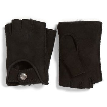 UGG® McKay Genuine Shearling Fingerless Driving Gloves | Nordstrom