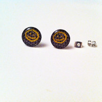 Sherlock Smiley Face Wallpaper Earrings