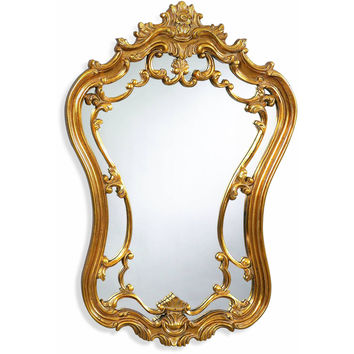 "Bassett Mirror Hermosa Wall Mirror Gold Leaf 24"" x 35"" - M2968EC"
