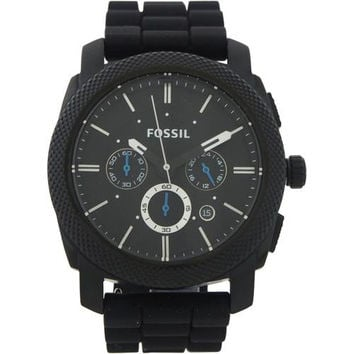 Fossil - FS4487P Machine Chronograph Black Silicone Watch