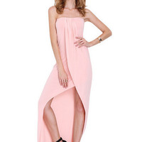 Strapless Wrap Prom Dress One Piece [4966116228]