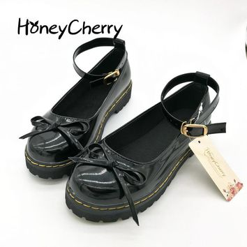 HoneyCherry Japanese styke Doll Shoes Fashion Cosplay Lolita Pointed Maid Uniform Size