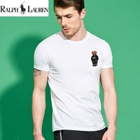"New Ralph lauren Mens ""Bear"" Shirt Sleeve T shirt 100% COTTON TOP"