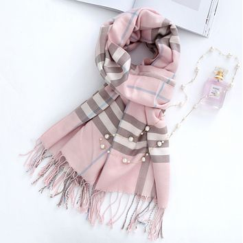 Fall and winter new imitation cashmere plaid scarf