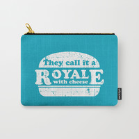 Pulp Fiction - royale with cheese Carry-All Pouch by g-man
