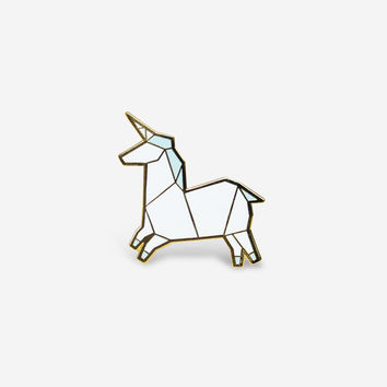 Unicorn Brooch – Blue