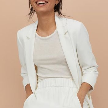 Crêped Jacket - Cream - Ladies | H&M US