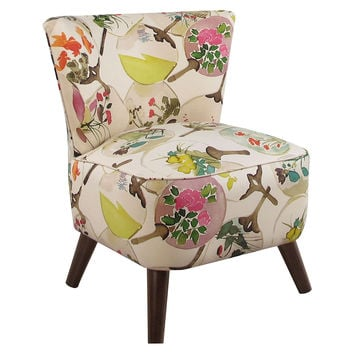 Barnes Modern Chair, Cream/Multi, Accent & Occasional Chairs