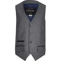 River Island Boys grey suit vest