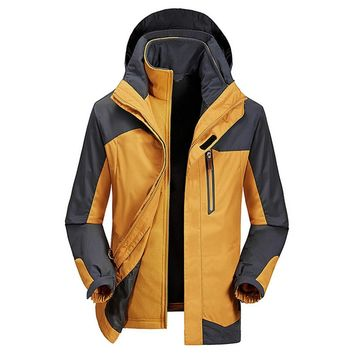 Trendy Breathable Waterproof Windbreaker Hooded Jacket Skiing Sportswear Jacket for Men Snowboard Ski Jacket Hoodie Coat Winter