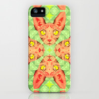 Sphynx Cat Pattern iPhone & iPod Case by chobopop