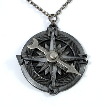Steampunk Jewelry Necklace Compass Rose by VictorianCuriosities