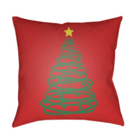 Christmas Tree Pillow ~ Red/Green