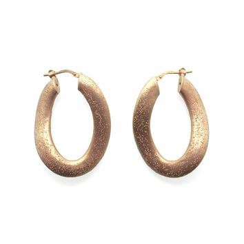Oblique Pink-plated Silver Earrings