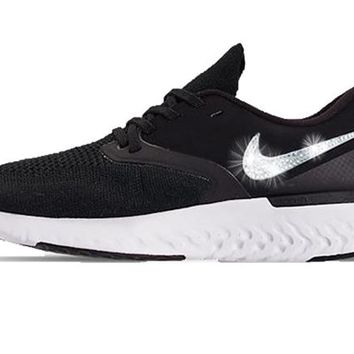 Nike Odyssey React Flyknit 2 + Crystals - Black/White
