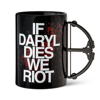 If Daryl Dies We Riot Crossbow Mug