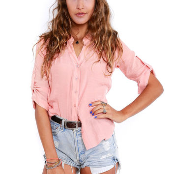 Just Peachy Button Down