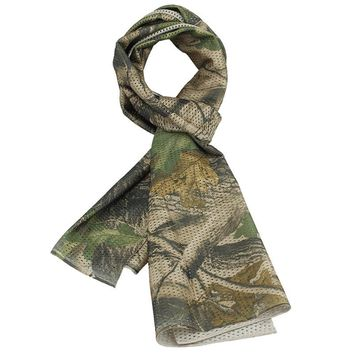 Face Veil Sniper Mesh Fast Dry Mask Military Tactical Scarf Cycling Outdoor Camouflage Scarves Multicam Khaki Woodland ID-HS02
