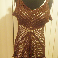 Crochet tank top, festival clothing, womens tops, -made to order- free shipping to USA
