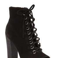 Steve Madden 'Freemee' Open Top Lace-Up Bootie (Women) | Nordstrom