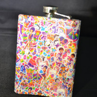 Totally 90's Bitchin' LISA FRANK Flask by PunkJunkNYC on Etsy