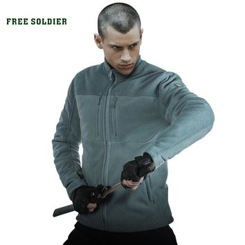 FREE SOLDIER Outdoor Sports Camping Hiking Tactical Men's Coat Sweatshirt Wear-resistant, Military Jacket