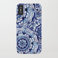 Delft Blue Mandalas iPhone Case by noondaydesign