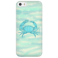 Blue Crab Cell Phone Case for iPhone 5, 6, 6 Plus and Galaxy Note 3, 4 and Galaxy S4, S5