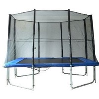 Aosom 10' x 7' Rectangle Backyard Trampoline Set w/ Safety Enclosure