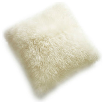 "New Zealand Sheepskin Pillows 16"" Double Sided"
