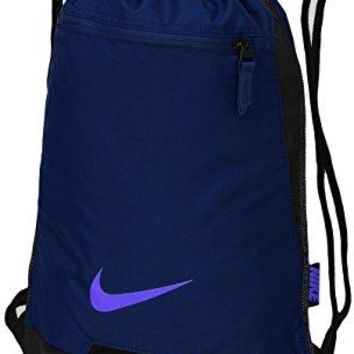 Nike Alpha Adapt Gym Sack Drawstring Backpack, Binary Blue/Black