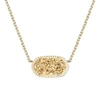 Elisa Pendant Necklace in Gold Drusy - Kendra Scott Jewelry